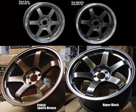 17 Rota Grid Hyper Black Rims Wheels 17x9 42 5x100 Subaru Impreza WRX