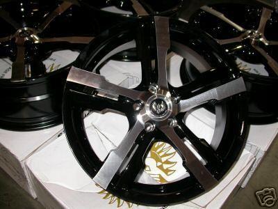 18 Stern Black Wheels Rims Ford Jaguar s XJ Mercury LS Volvo S60