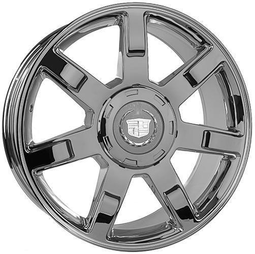 Chrome Finish Wheels Set for Cadillac Escalade Tahoe Yukon Rims