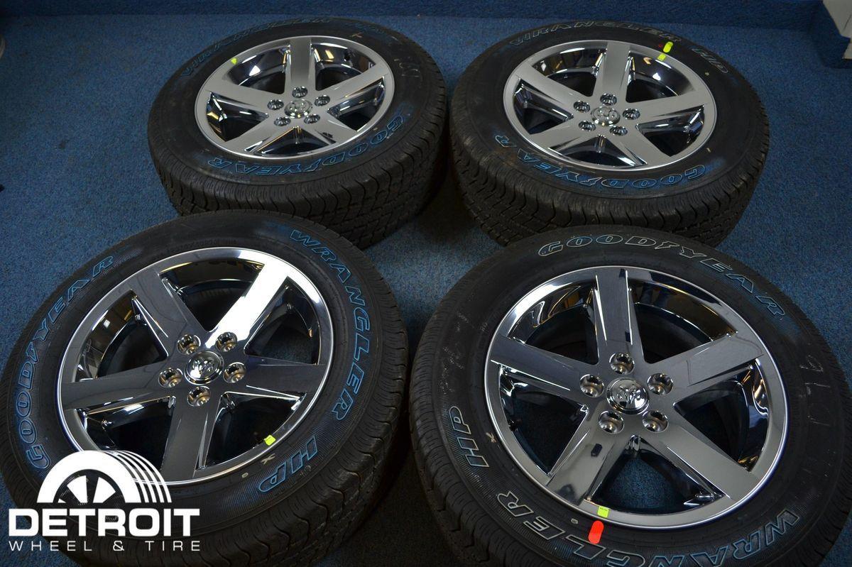 Dodge RAM 1500 20 Chrome Wheels Rims Goodyear Tires 2364CCC