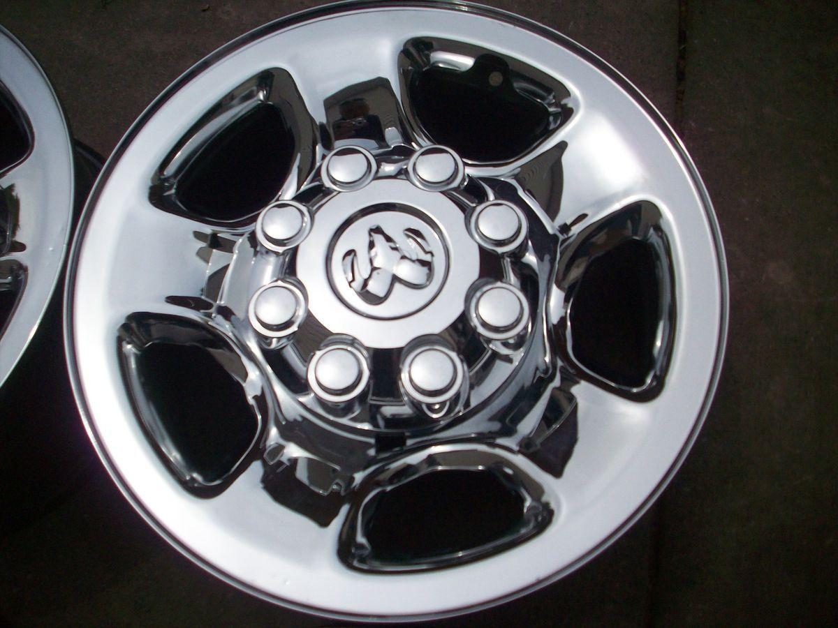Dodge RAM Big Horn 2500 3500 Factory Chrome Clad Wheels Rims