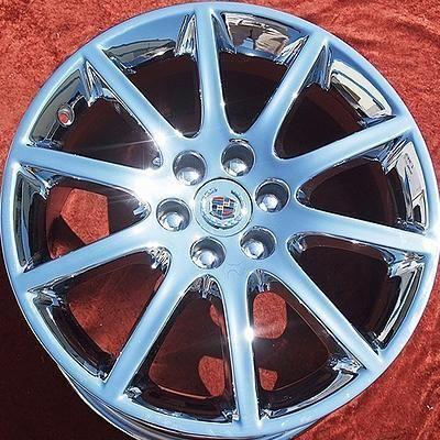 of 4 New 18 19 Cadillac STS V Factory Chrome Wheels Rims 4595