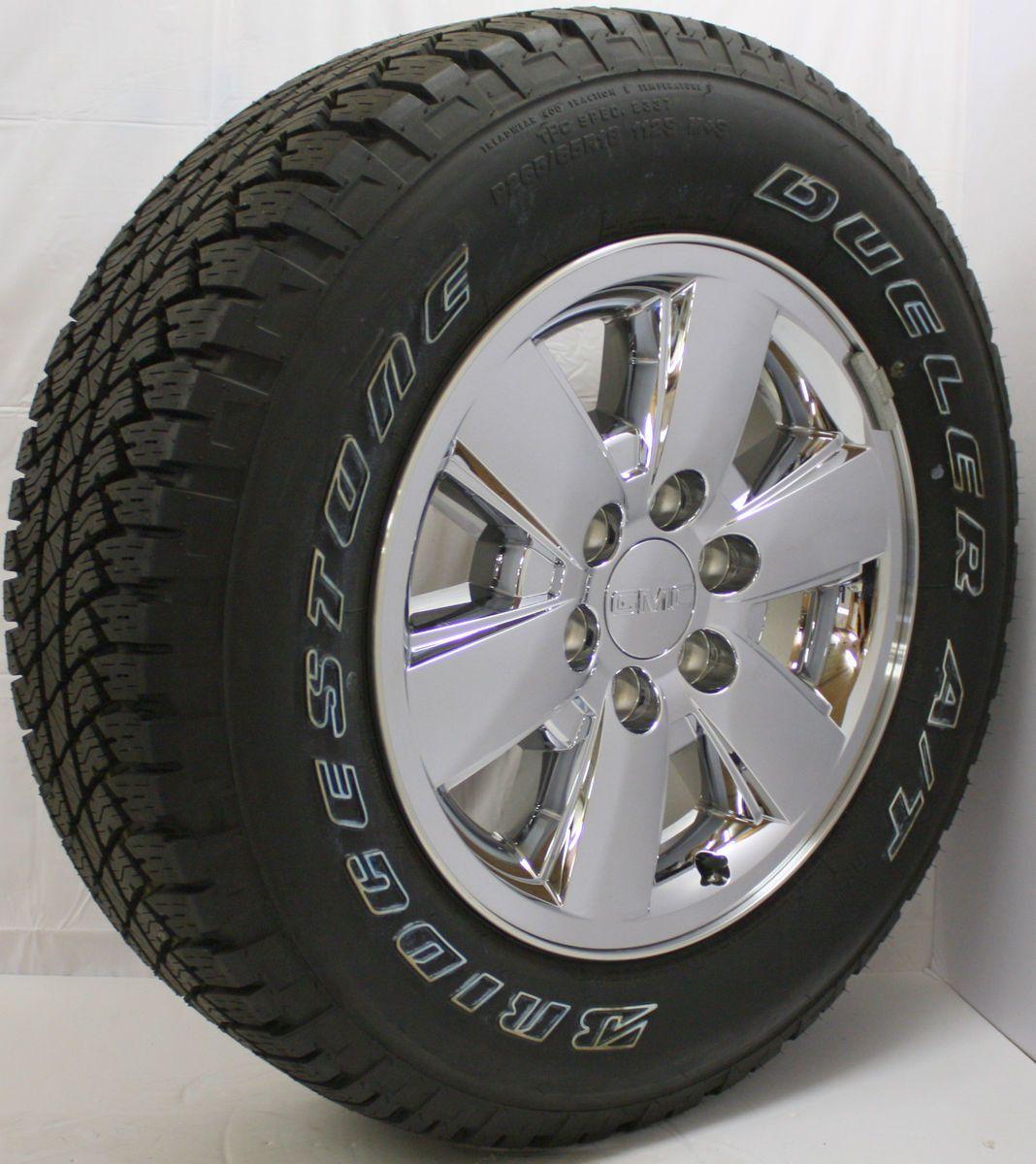 Off 2013 GMC Sierra Yukon 18 Z71 Chrome Wheels Rims Bridgestone Tires