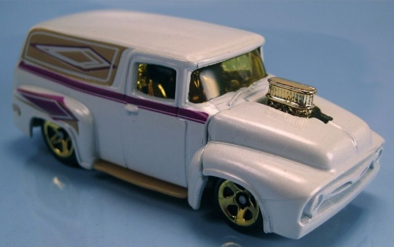 Hot Wheels 56 Ford Truck F 100 Panel Pearl White 2001
