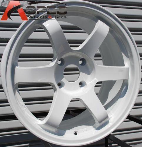 Rota Grid 17x9 4x114 3 ET12 73 1 Hub White Rim Wheels