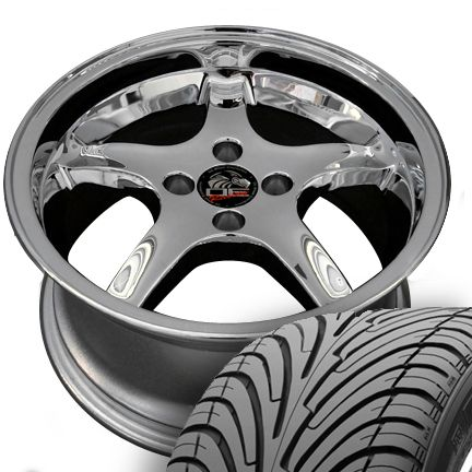 Chrome Cobra Wheels Nexen Tires Rims Fit Mustang® GT 79 93