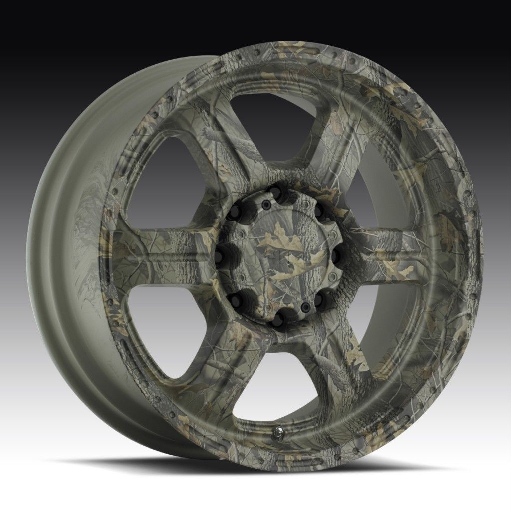 20 inch V Tec 326 Camo Wheels Rim 8 Lug Chevy Dodge GMC
