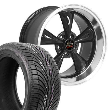 10 Black Bullitt Wheels Nexen Tires Rims Fit Mustang® 94 04