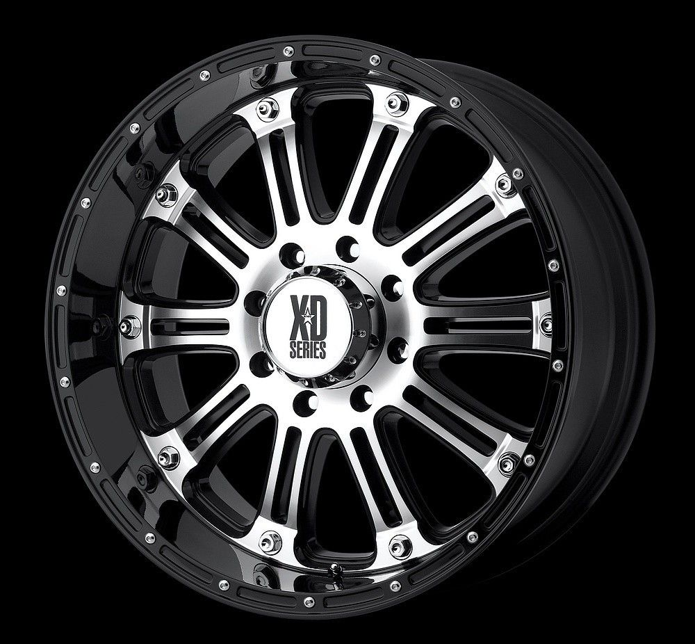 20 inch XD Hoss Black Wheels Rims Ford F150 6x135 30