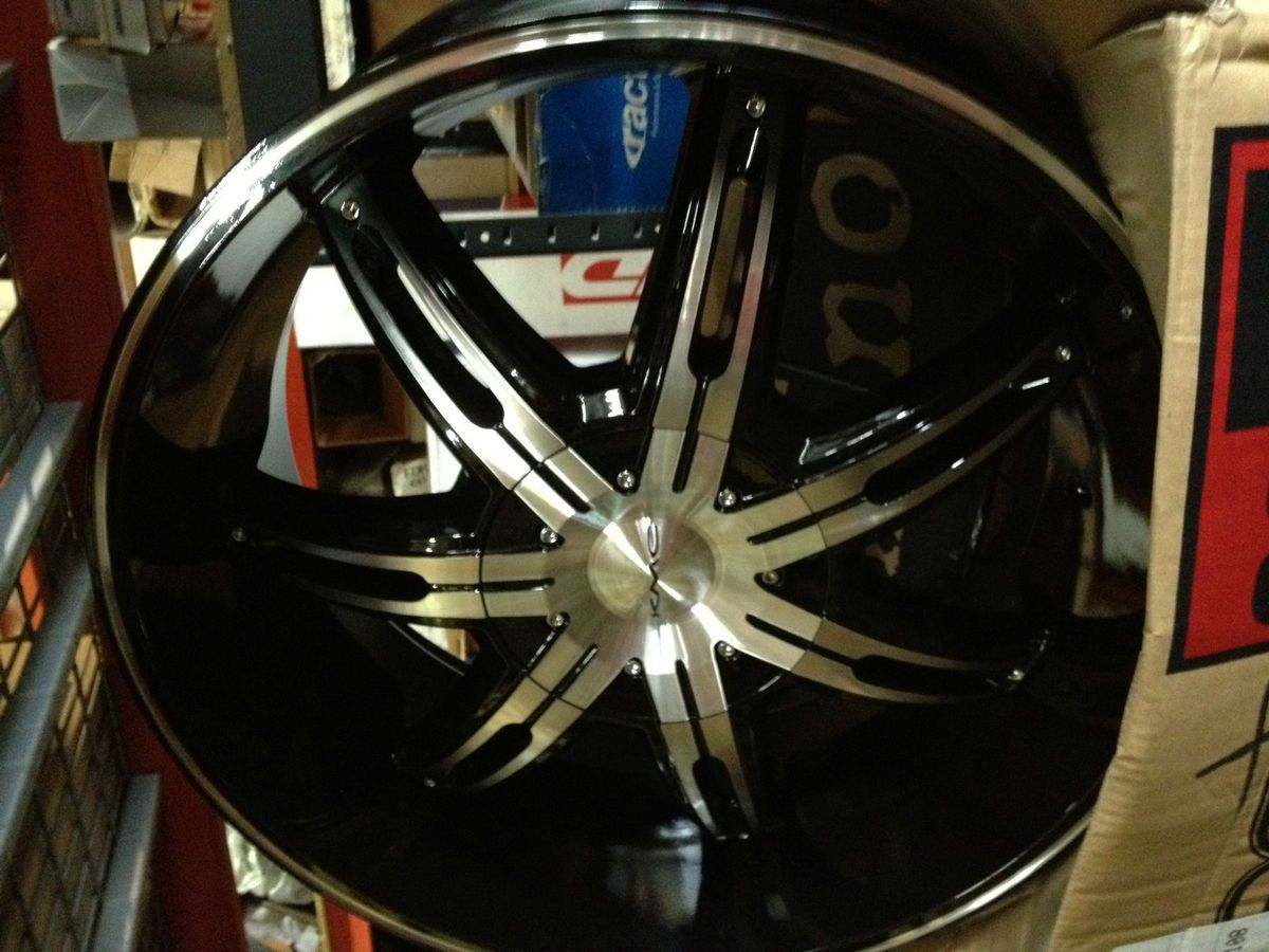 22 inch Black KMC Surge Wheels Rims Ford F150 Expedition Lincoln