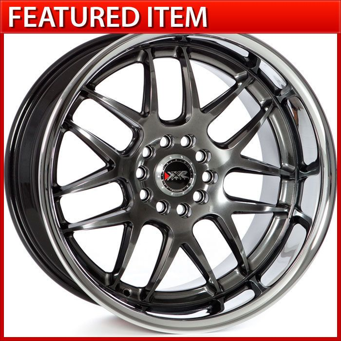 18x10 5 5x114 3 5x120 CHROMIUM BLACK STAGGERED WHEELS RIMS 350Z 20