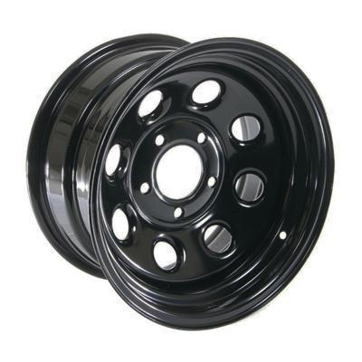 Cragar Soft 8 Black Steel Wheels 15x8 5x5 Set of 4