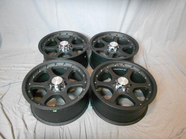 Used 20x9 6x139 7 6 139 7 Ocotillo Matte Black Wheels Rims