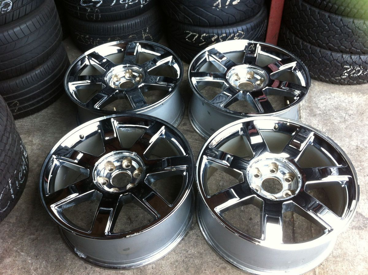 22 Cadillac Escalade Wheels Rims Chrome Alloy Factory 22 GM Yukon