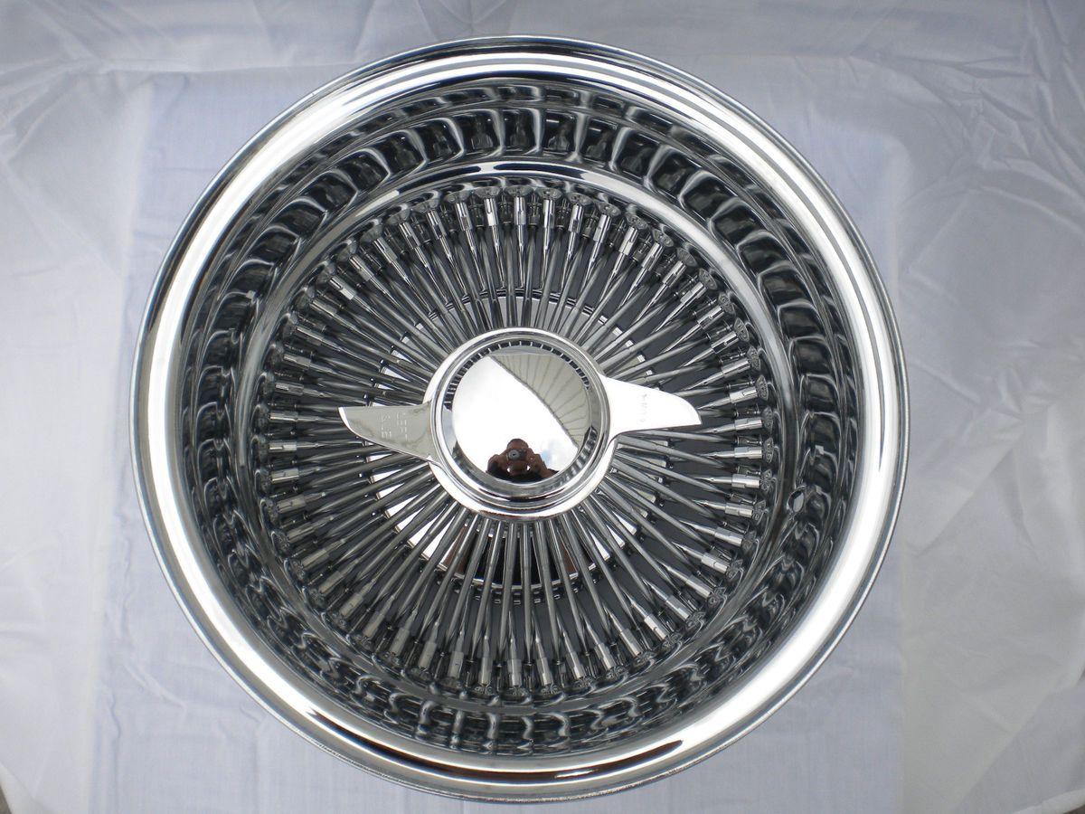 DAYTON CHROME 15x7 Wire Wheels Full Set Rims NEW Deep Dish KNOCKOFF