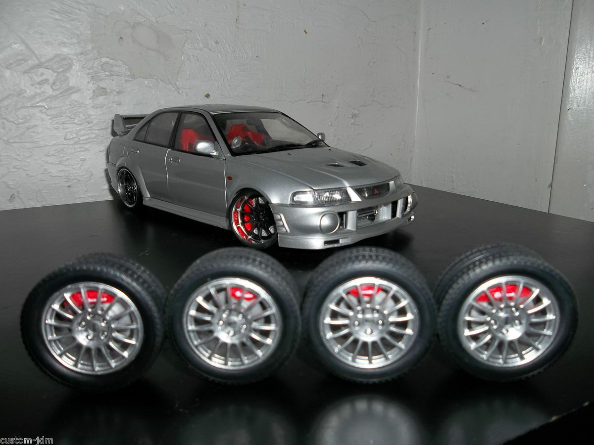 Rally Lancer EVO 6 Wheels Tires Set Rims UT Kyosho Modified