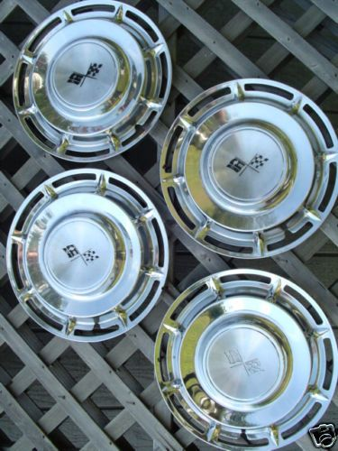 1960 Chevrolet Chevy Hubcaps Wheel Covers Center Caps