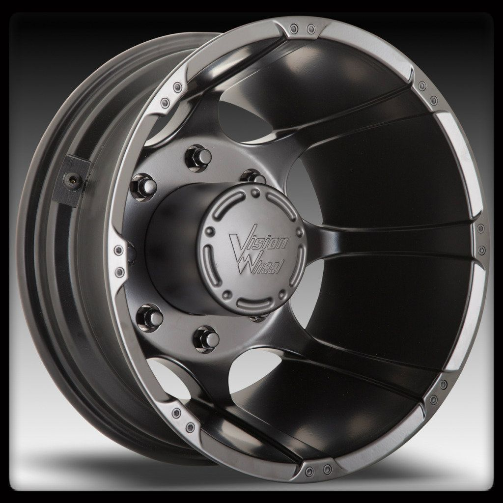 Matte Black Dually Wheels Chevy GMC 3500 Dodge RAM 3500 17x6