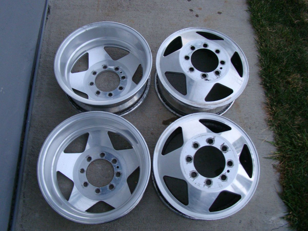 Dually Wheels 16 x 6 Chevy Ford Dodge 8 x 6 5 Dual Alloy Rims