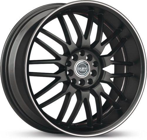 18 x8 Ruff Racing R951 Black Machined Wheels Rims