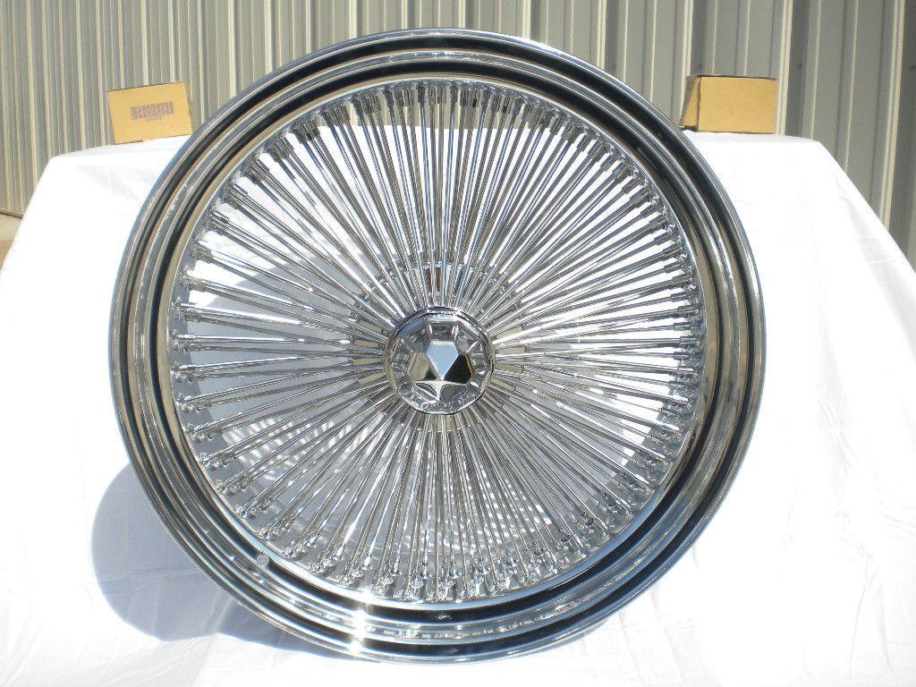 Chrome Wire Wheels Full Set Rims NEW REAR WHEEL DRIVE KNOCKOFF KO