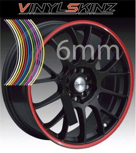 6mm Premium Alloy Mag Wheel Rim Tape Stripes Stickers Graphics Decals