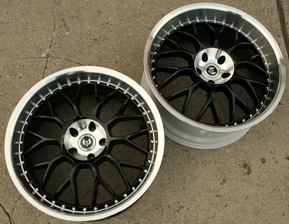 Hyper Mesh II 20 Glossy Black Rims Wheels Mercedes CLS 55 AMG